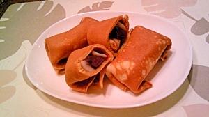 きなこクレープ、針せんぼ餅(大福)ロール