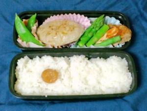 オヤジ弁当その6(魚肉ハンバーグ弁当)