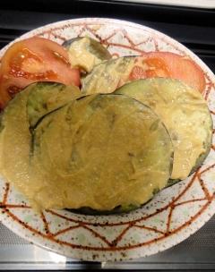 ★鳥養茄子のステーキ★ヨーグルト味噌ソース