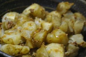残りカレーを利用♪菊芋のカレー煮