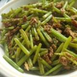 サツマイモの茎の炒め物