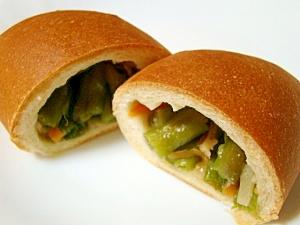 インゲン豆のお惣菜パン