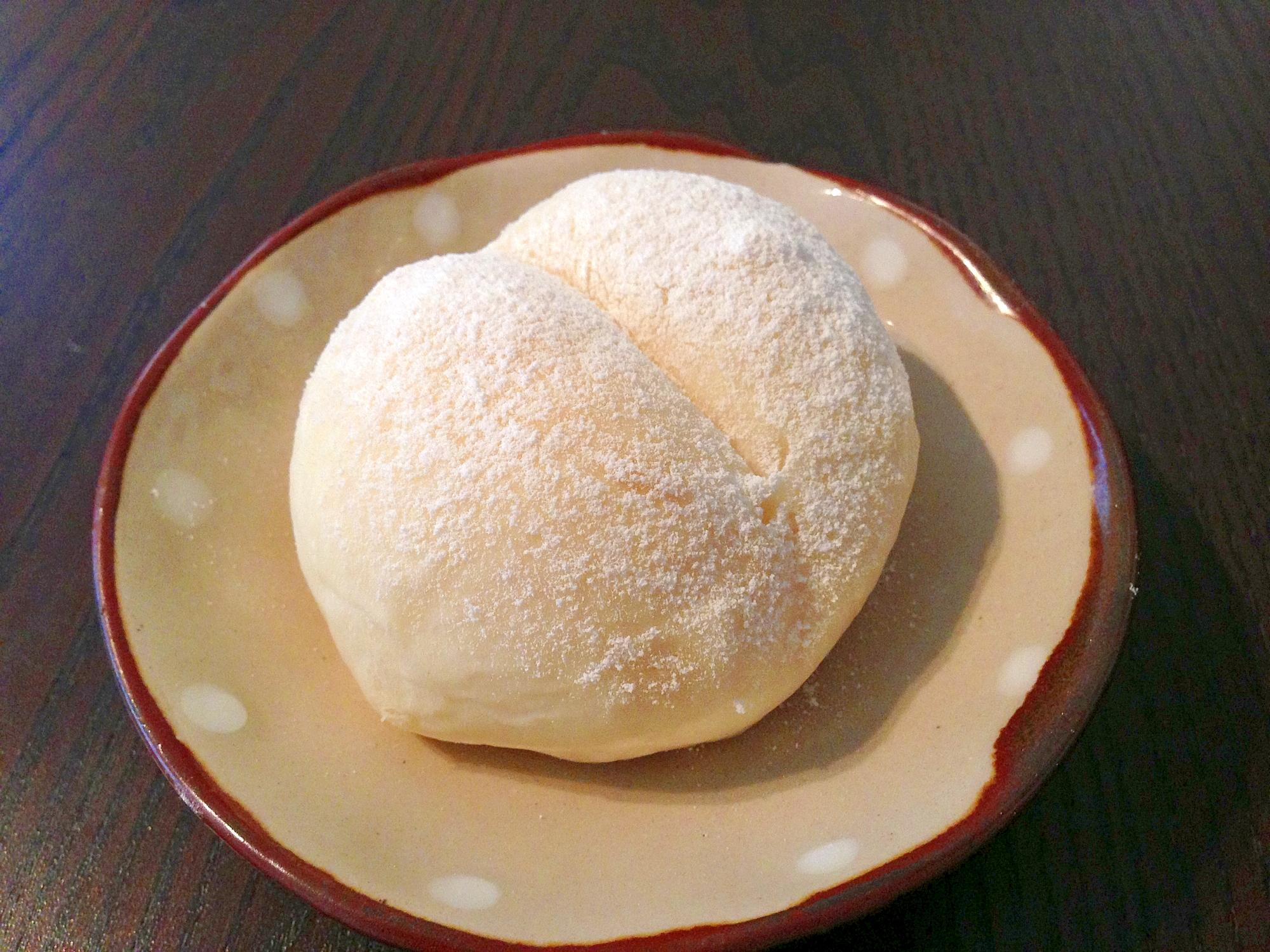 ノンオイルでヘルシー♪かわいい白パン