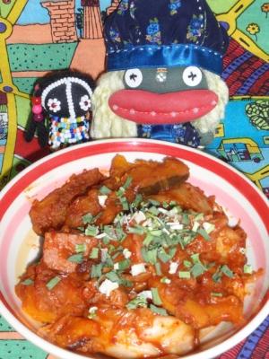 南瓜とスパムの味噌キムチ炒め