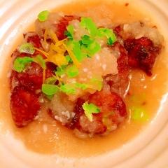 鶏竜田揚げのさっぱり柚子みぞれ煮