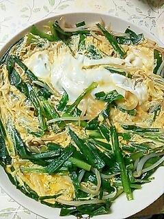 めんつゆで簡単に☆ニラともやしの卵とじ レシピ・作り方 by ゆづゆづパンマン|楽天レシピ