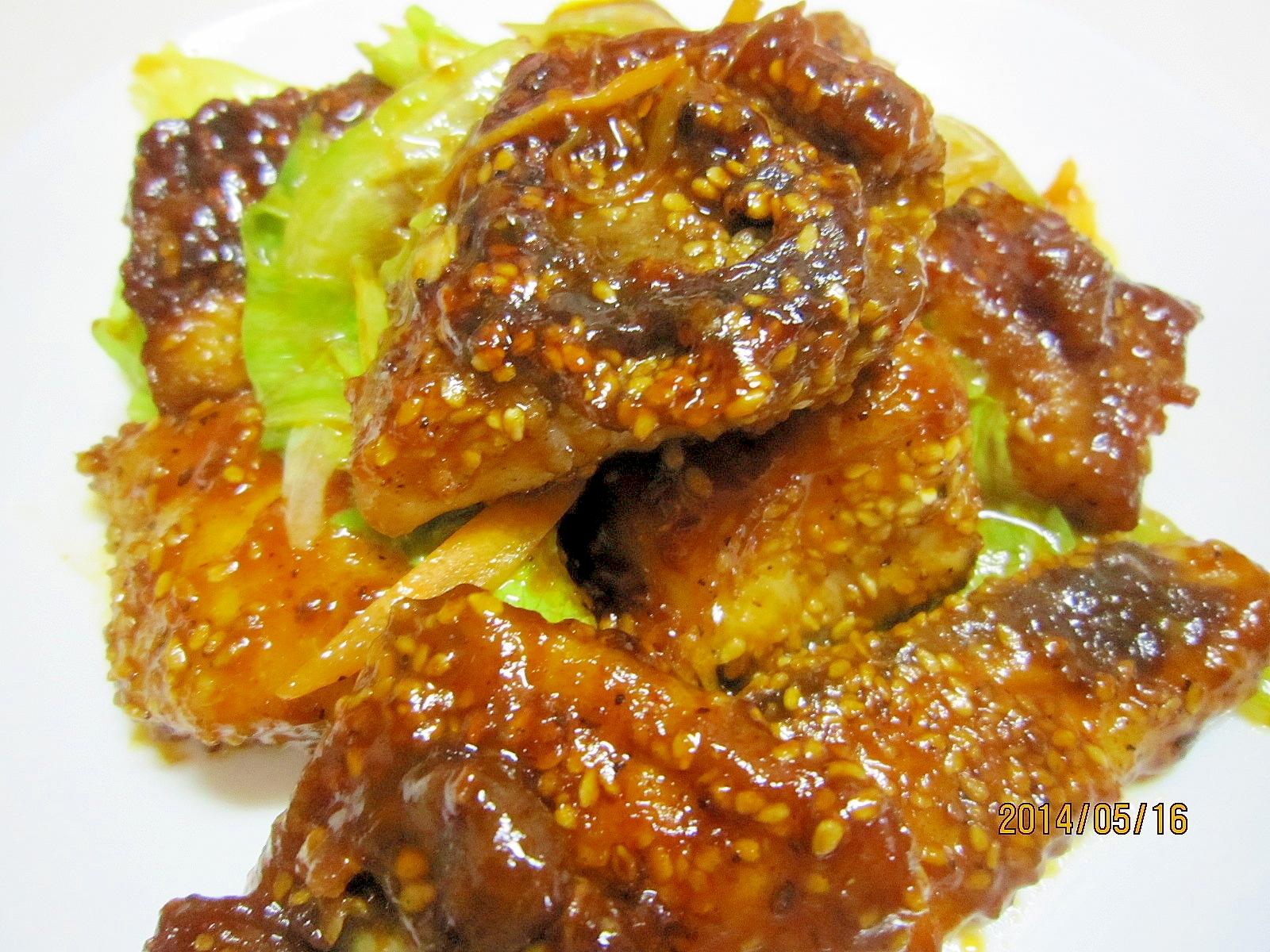節約節約お魚1匹使いきり 韓国風ヤンニョム魚