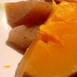 かぼちゃとこんにゃくの煮物