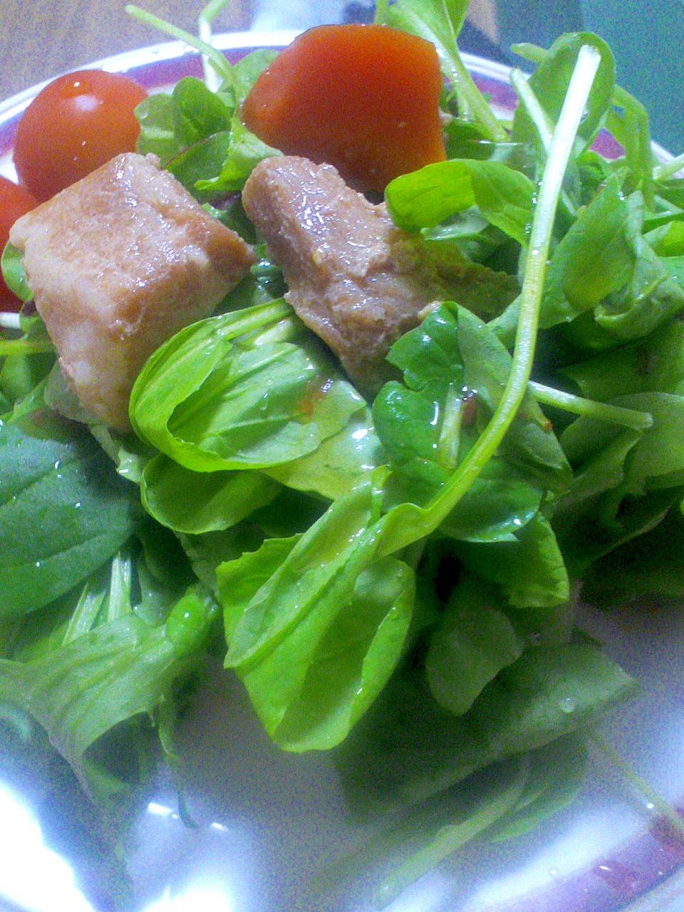 ボリュームたっぷり♪豚かたまり肉のサラダ
