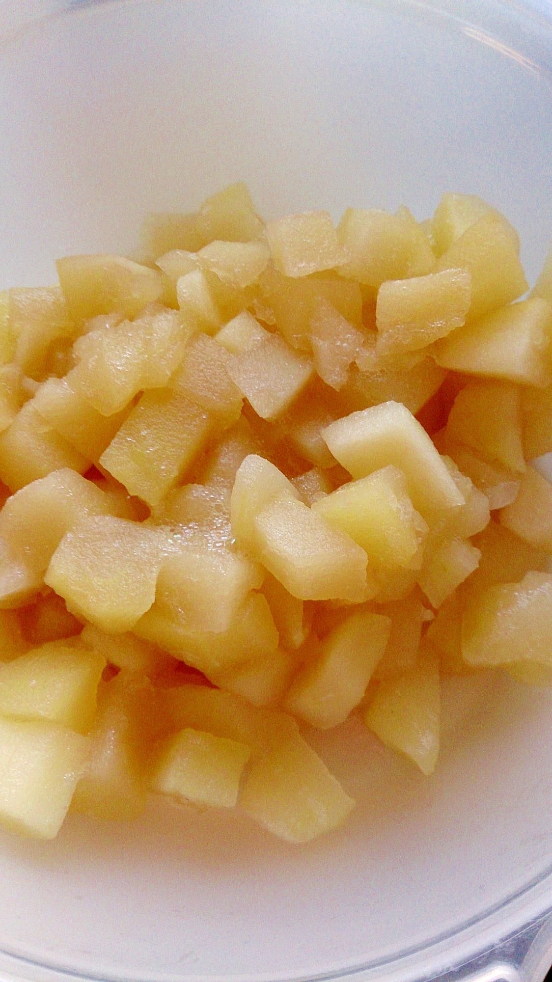 りんごジュースとりんごでコンポート
