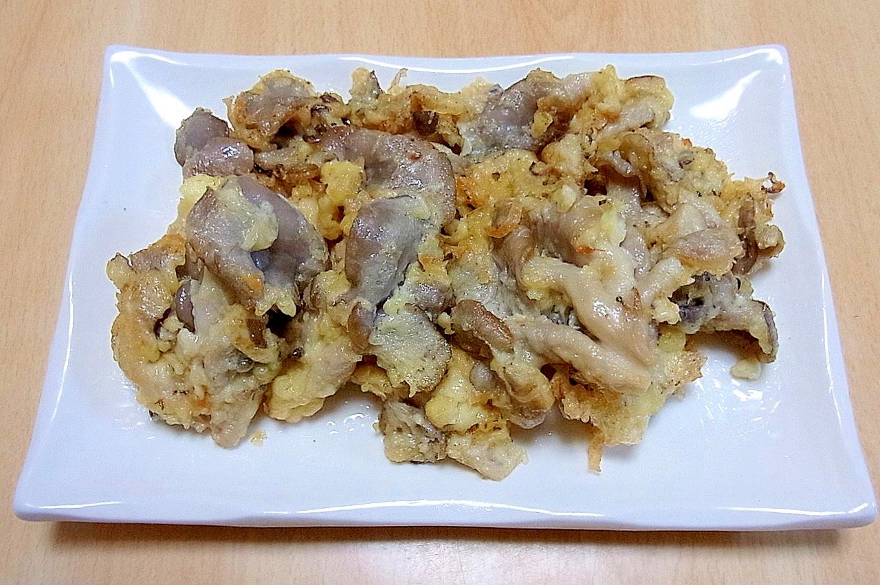 ひらたけの醤油麹天ぷら