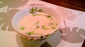 ポトフの残りでミルクスープ