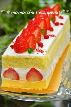 HMで簡単♡苺のショートケーキ♪お誕生日にも