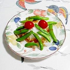 新玉葱とスナップえんどうのサラダ