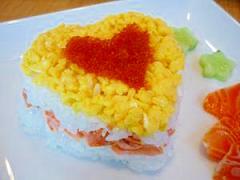 ハート型ちらし寿司