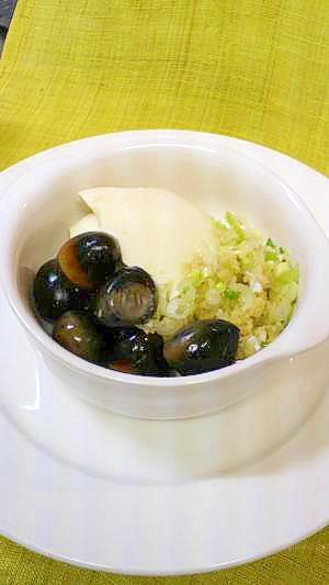 うずらピータン豆腐