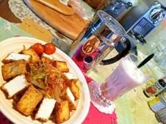 香味野菜と厚揚げの冷たいチャンプルー