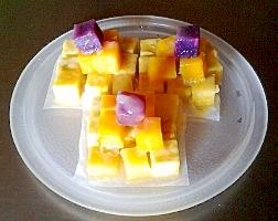 彩りサツマイモのピラミッド