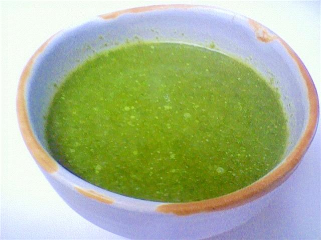 正月菜のグリーンスープ♪