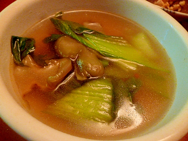 チンゲン菜とザーサイの中華スープ レシピ・作り方 by fairy Tale|楽天レシピ