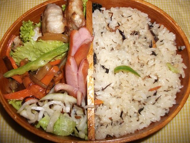 永谷園の松茸のお吸い物を使った鶏五目ご飯