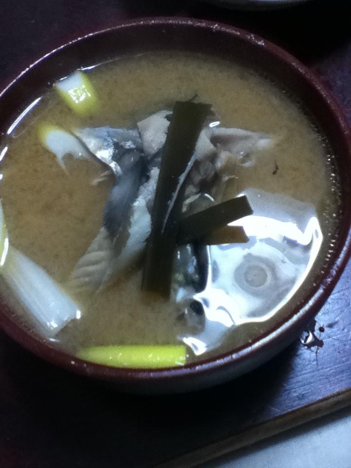 鯖アラと菊芋の味噌汁