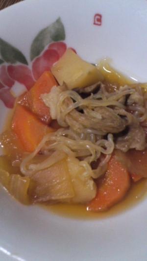 レンジde牛肉&しらたきの煮物