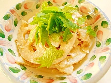 レンジで ☆ れんこんサラダ