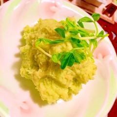 アボカドと大和芋のグリーンマッシュポテト