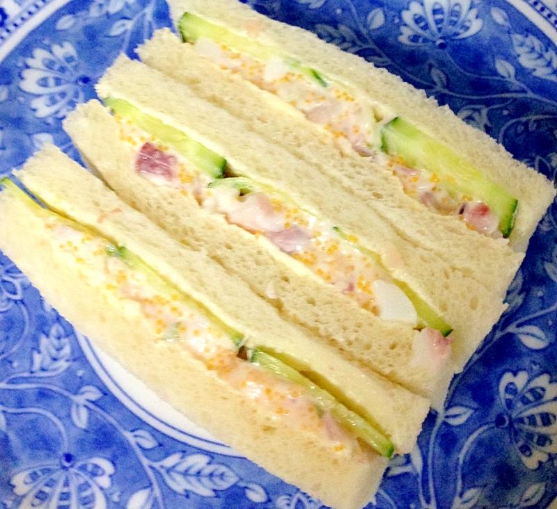 ホッキ貝サラダのサンドウィッチ
