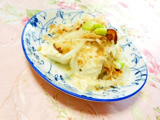 おぼろ豆腐deどんこ&玉葱&おかか&枝豆奴