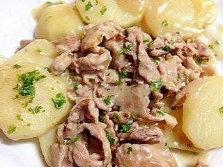 ポテトと豚こま切れ肉の超時短クリーム煮 レシピ・作り方 by ふくーすな|楽天レシピ