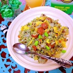 塩漬レモンとパセリの夏仕様雑穀チャーハン