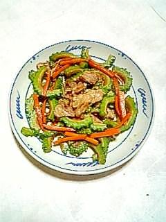 夏バテ防止に☆豚肉とゴーヤの和風炒め☆