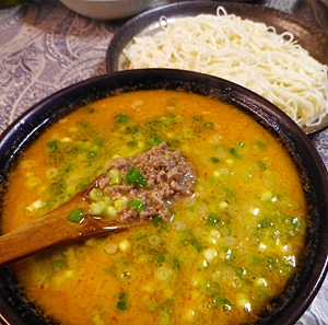 白石うーめんで、ココナッツ坦々つけ麺 レシピ・作り方 by leopoo|楽天レシピ