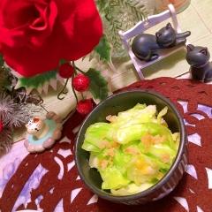 揉めば美味しくな〜る、春キャベツの浅漬風サラダ