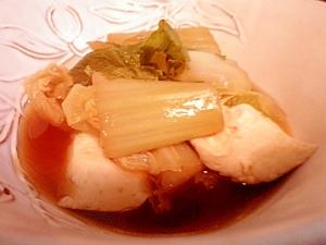 豆腐とハクサイの煮物