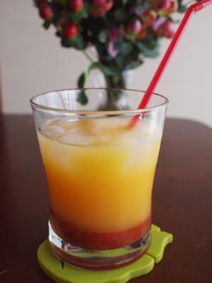 かわいい☆ストロベリーオレンジジュース