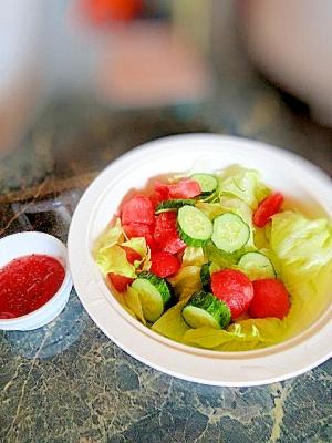 夏だ☆すいかだ☆すいかのサラダ
