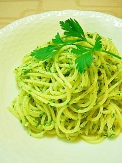 イタリアンパセリの消費に★イタリアンパセリのパスタ