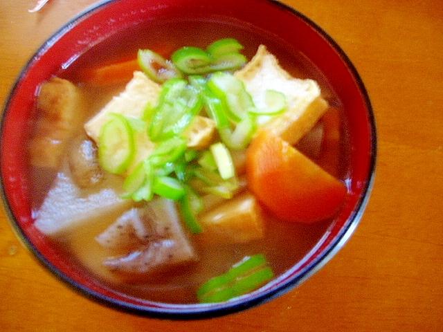 厚揚げで!ボリューム満点けんちん汁 レシピ・作り方 by かばぽん^^|楽天レシピ