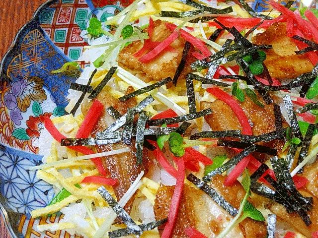 ひな祭りに♪ 「焼き穴子のちらし寿司」