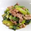 めんつゆで簡単☆牛肉と小松菜の蒸し煮