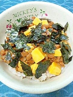 納豆の食べ方-鶏きんかん♪
