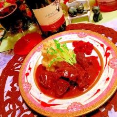 牛ほほ肉が頬染める♡北欧風ラズベリーソース煮