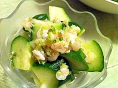 きゅうりと島らっきょうの塩麹サラダ