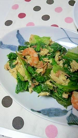 卵とレタスの中華炒め