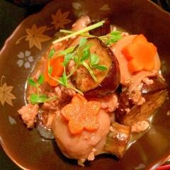 里芋と茄子のこっくり旨辛サンバルそぼろあん