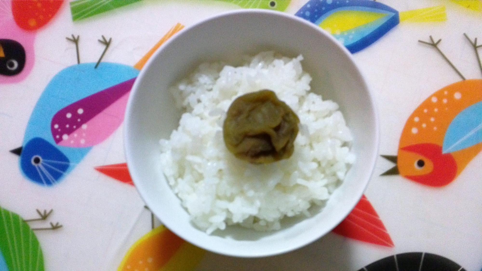 梅ジュースの梅で簡単梅ご飯