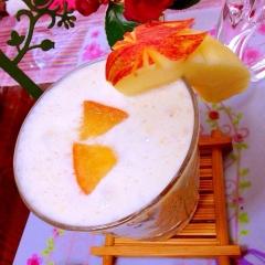 薄紅りんごのココナッツミルクラッシー